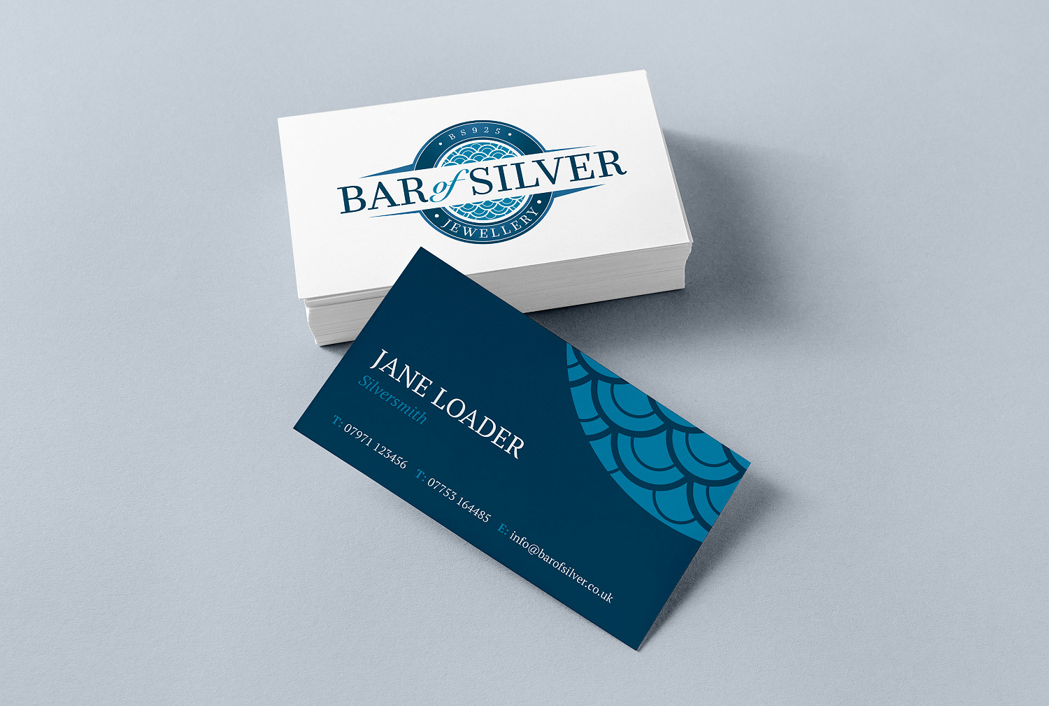 Bar of Silver Business Card Design