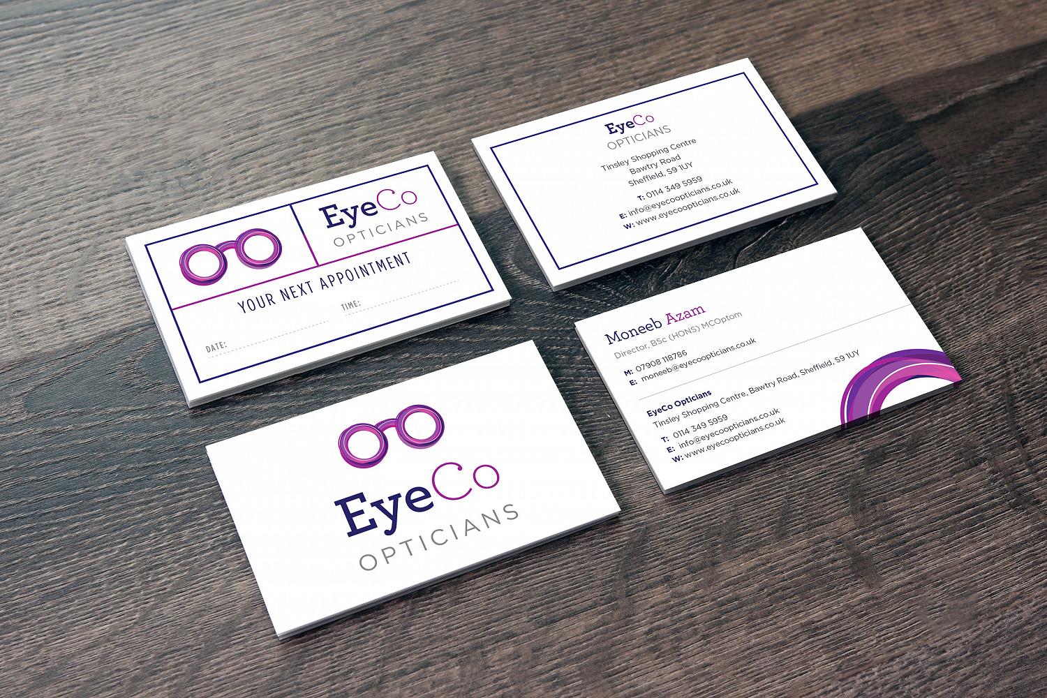 Eyeco Appt Card and Business Card